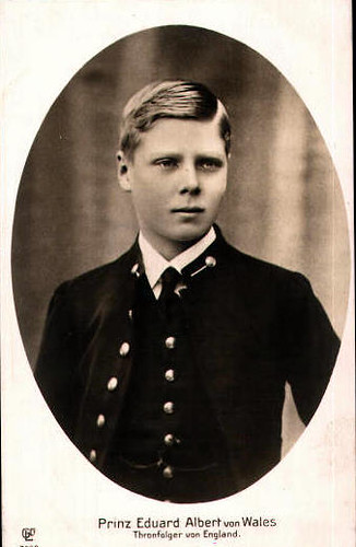 The Prince of Wales, Edward future King Edward VIII. of Br ...