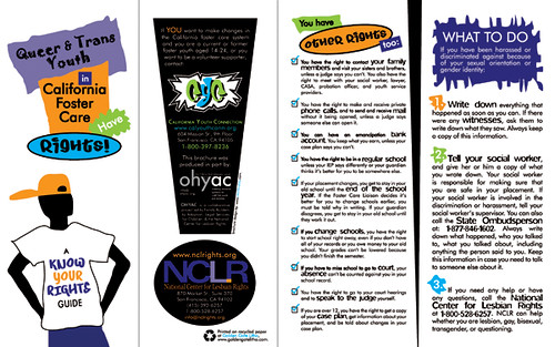 nclr lgbt foster youth rights brochure   outer spread by t reytag