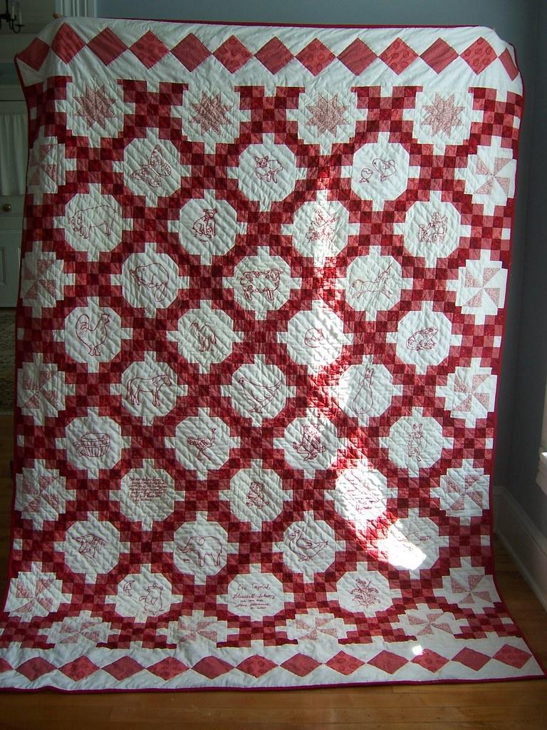 The Redwork Quilt Dorie Schwarz Flickr
