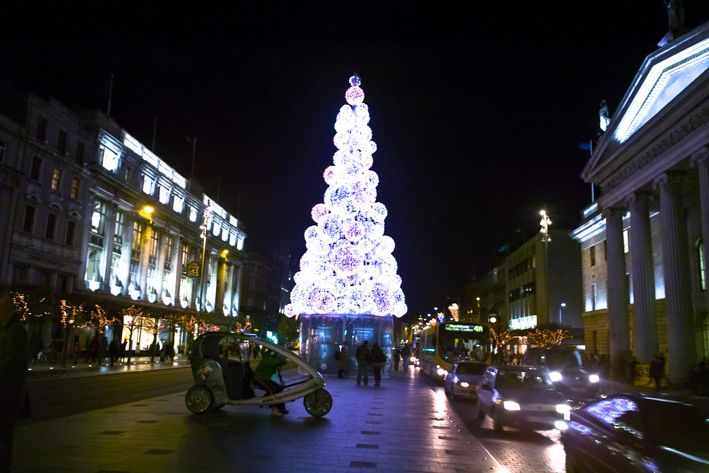 A French-designed Christmas tree is lighting up Dublin's O