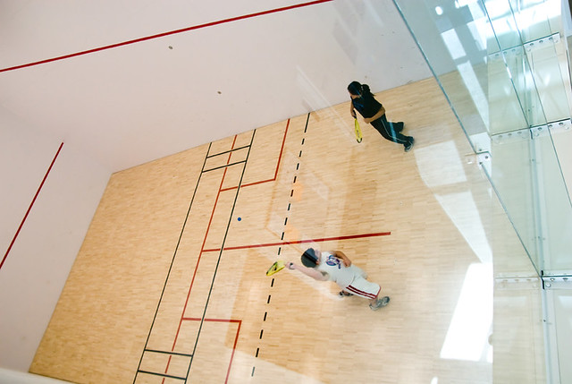 Trac racquetball court the racquetball court in the for Build a racquetball court