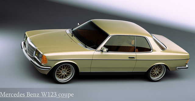 Mercedes Benz W123 Coupe This Is 3d Model Of The W123 Coup Flickr