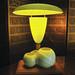 50's fiberglass lamp