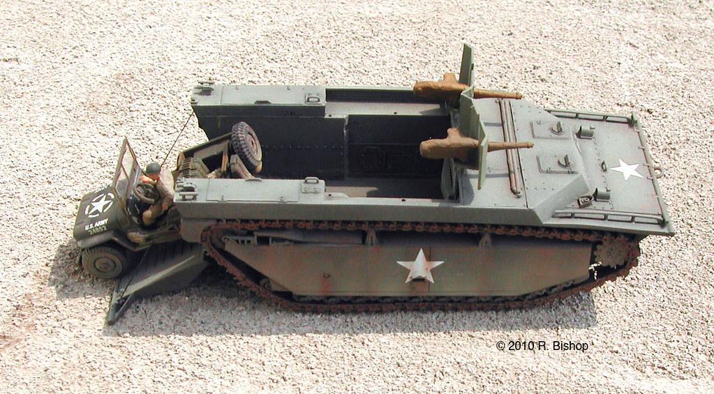 ModelCrafters WWII Diorama Of A U.S. Army LVT-4 Amphibious
