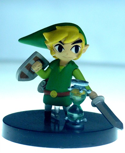 Link From Legend Of Zelda Phantom Hourglass Yujin Gashapo
