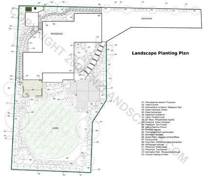 Plant plan section and garden design auckland new zeala for Landscape design jobs new zealand