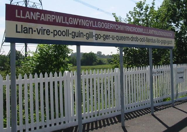 Llanfairpwllgwyngyll full train station sign