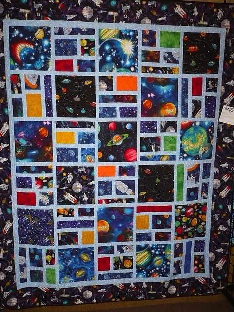 Outer space quilt c nilsen flickr for Outer space quilt