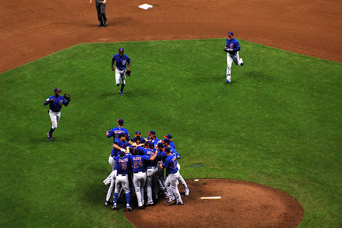 Outfielders Join In No Hitter Celebration | by Steve McCoy