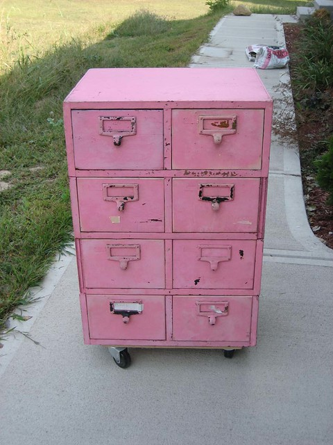 ... Before: Pink File Cabinet | By Udandi