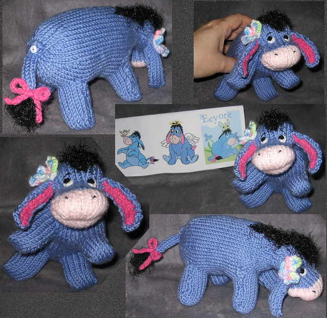 Knitted Tie Patterns : Eeyore Collage Eeyore Peep for Ds Birthday 2008 Made with? Flickr