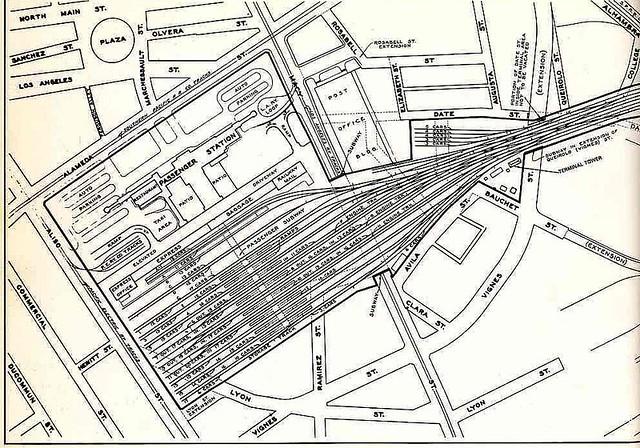 Union Station Area Map 1937 Union Station Area Map