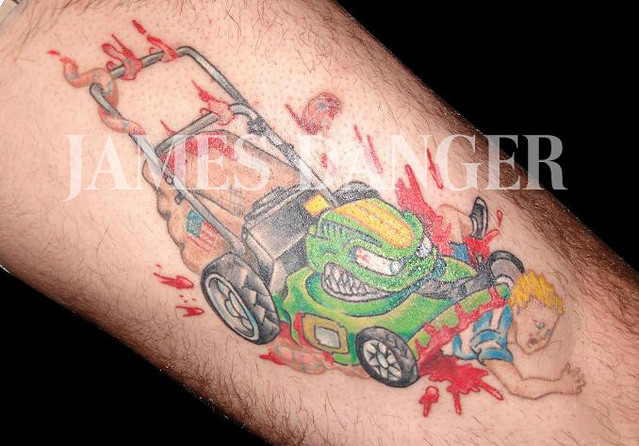 lawn mower tattoo james danger lawn mower tattoo tattoo lawn mower james. Black Bedroom Furniture Sets. Home Design Ideas