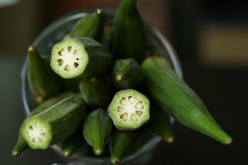 Cut Okra Take 2 (one stop down on exposure compensation) | by Sunday Nite Dinner