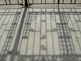sidewalk shadows | by Zombie37