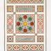 pavement de mosaïque - fragments disposée sur le plan des dorqâah (du XVIe. au XVIIIe. siècle)