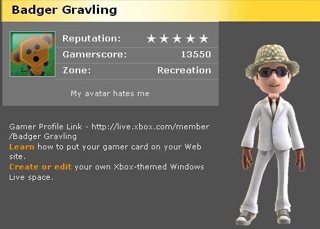 Badgergravling on new Xbox Live | by BadgerGravling