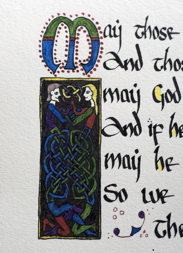 Hand Written Celtic Calligraphy Funny Irish Blessing
