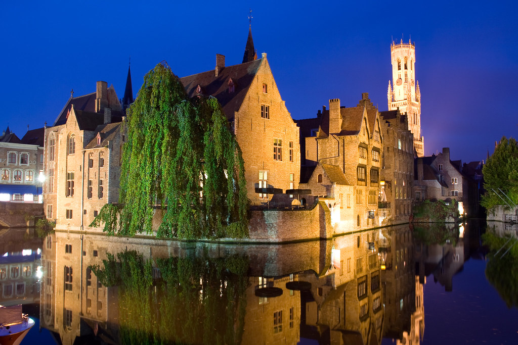 Bruges by night - Rozenhoedkaai