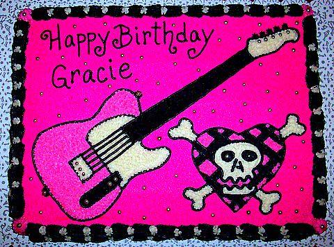 Avril Lavigne Birthday Cake