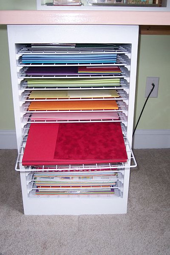 Craft Organization Shelves
