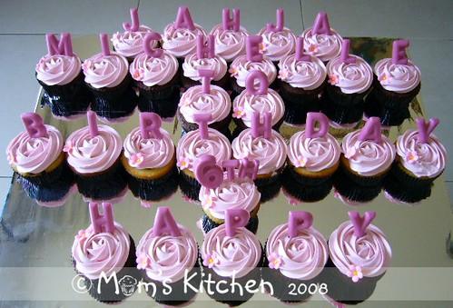 Cupcake Happy Bday Michelle Birthday Cake For Michelle