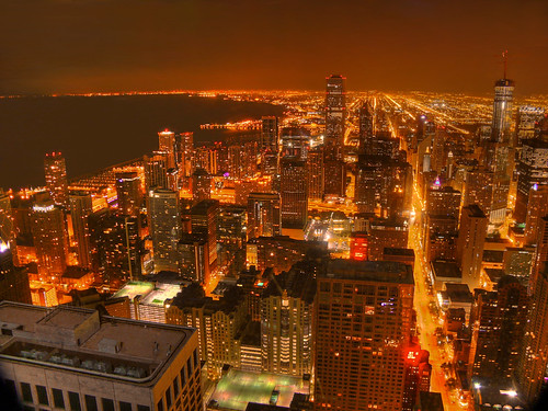 Downtown Chicago as seen from the Signature Room | by Menetnashté