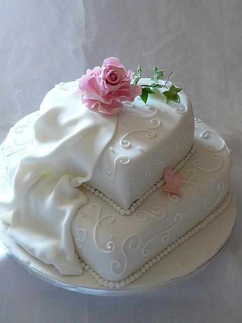 Hochzeitstorte Doppelherz Heike Krohz Flickr