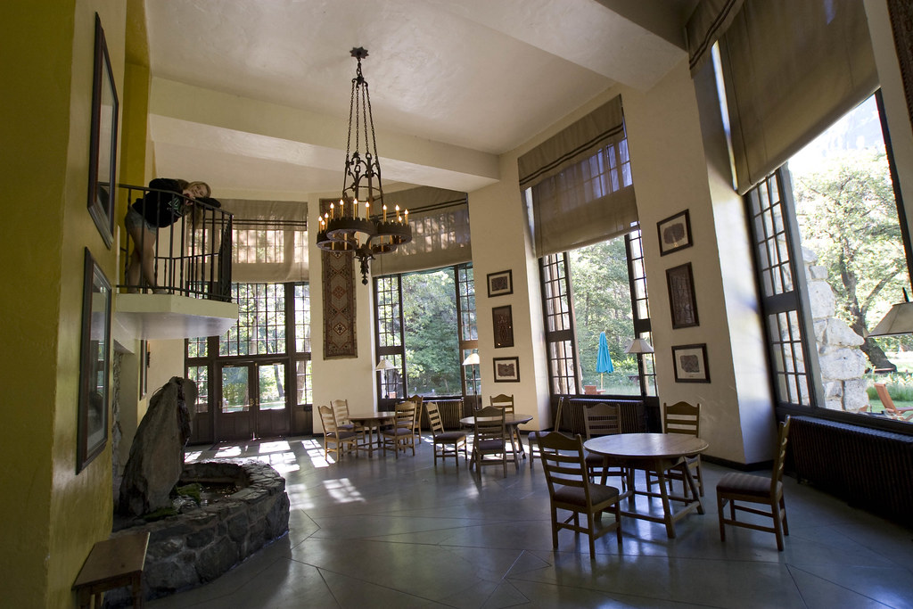 Ahwahnee Hotel Interior  The sun room in the lobby of the A…  Flickr