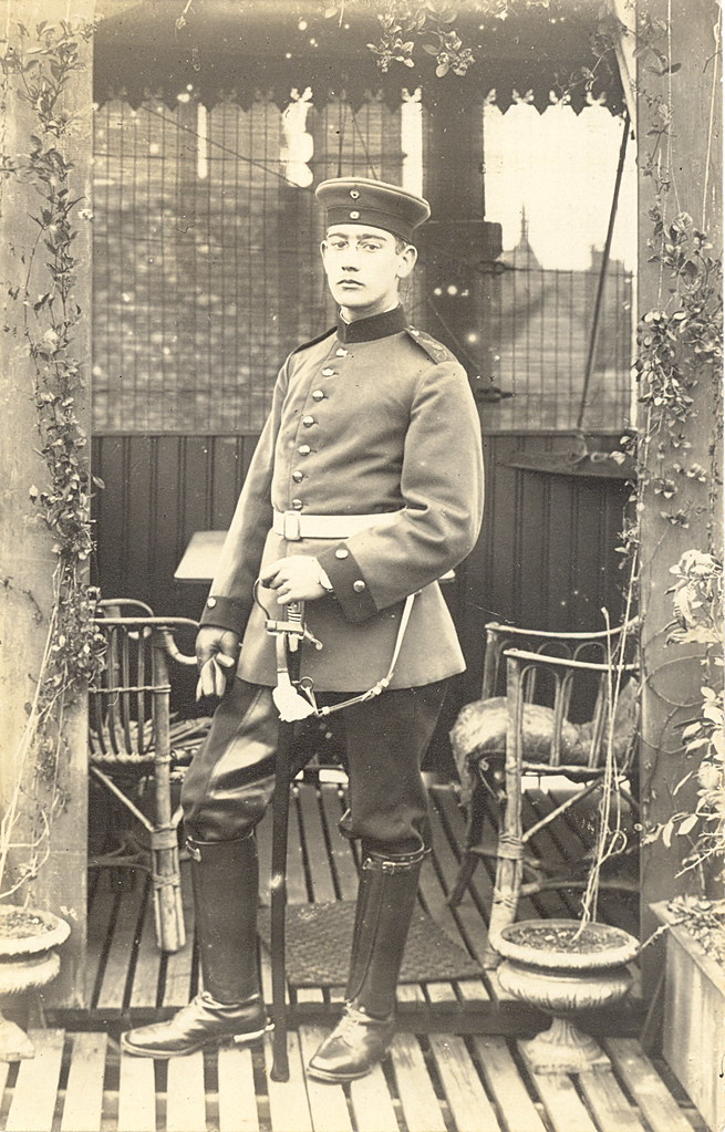 Wwi German Soldier 84th Foot Artillery The Sentry In