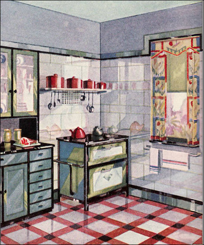 1929 vintage vitrolite kitchen another cute vitrolite for Kitchen designs american style