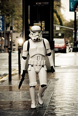 Hot trooper in the city