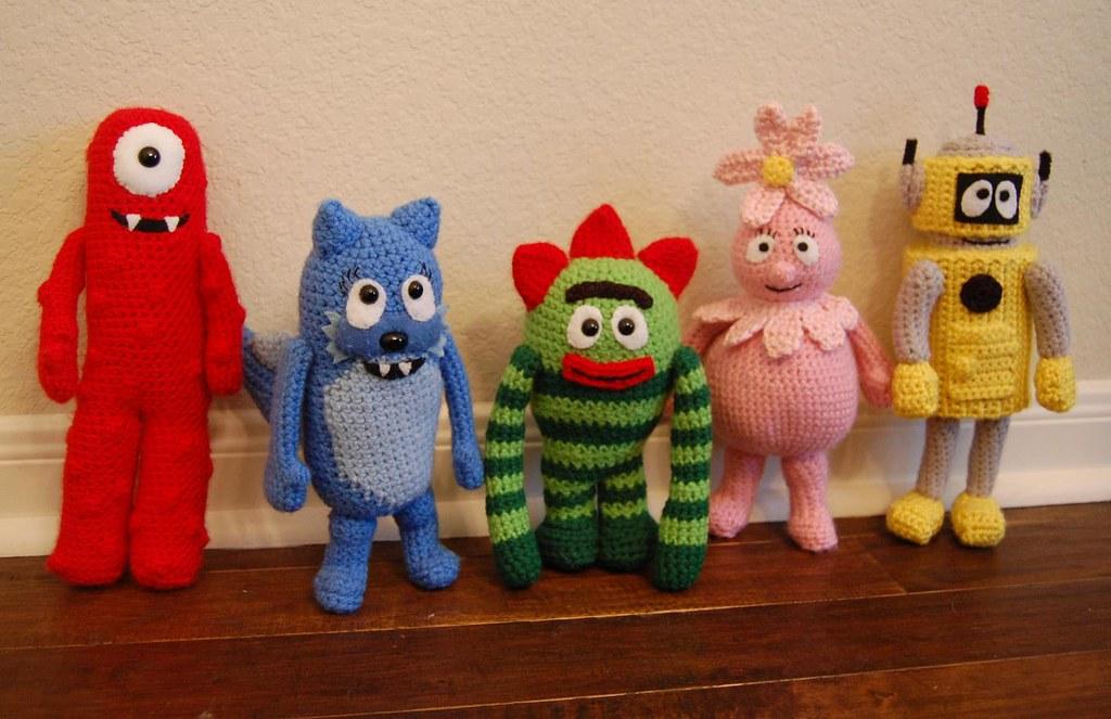 Yo Gabba Gabba crochet amigurumi | Muno, Toodee, Brobee ...