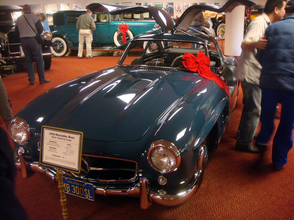 02f Nethercutt Collection Garage 1956 Mercedes Benz 300sl