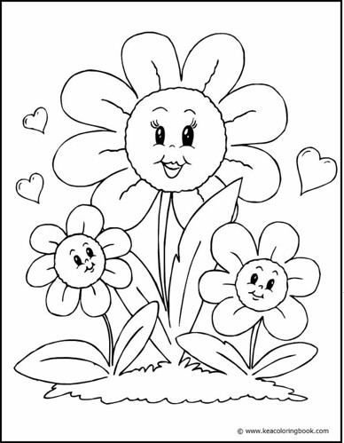 coloring pages of flowers for mom | Flower Family - Coloring Page | Flickr - Photo Sharing!
