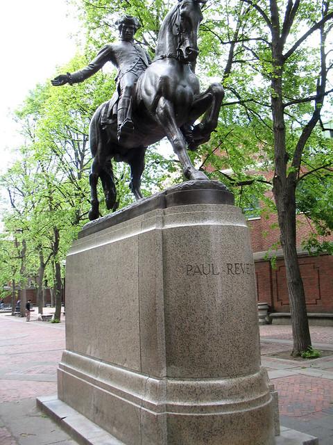 Paul Revere Statue   Paul Revere Mall, Boston, May 19 ...