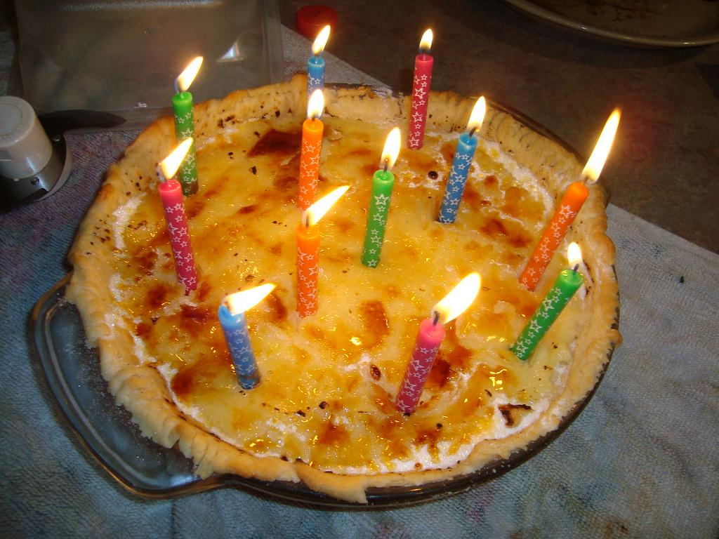 Creme Brulee Birthday Pie This Is My Signature Dish