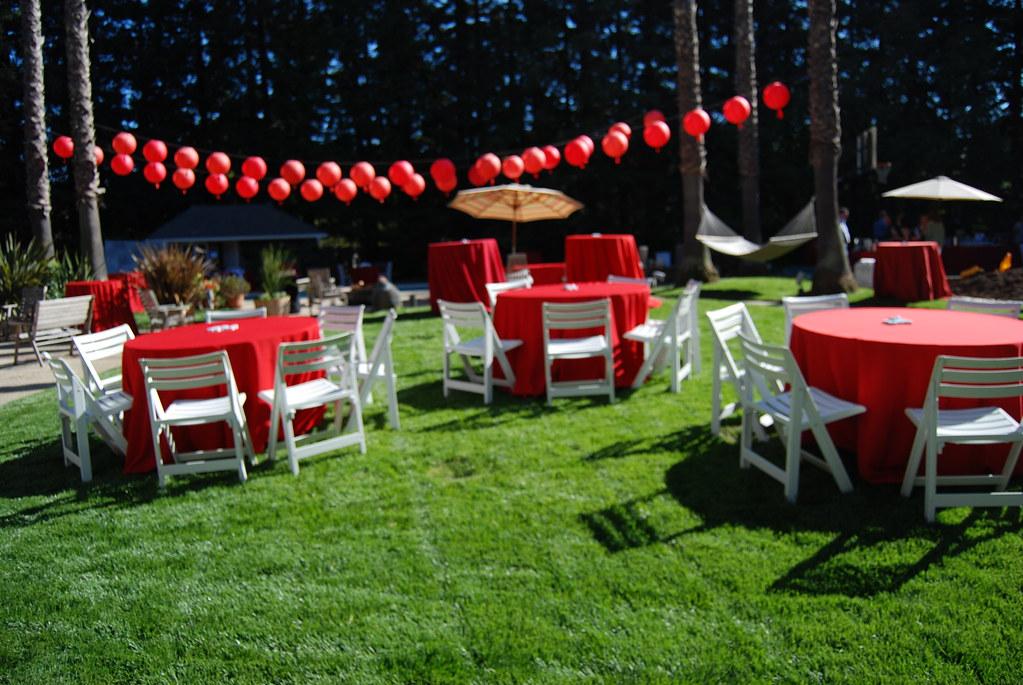 Party Setup Guys Backyard