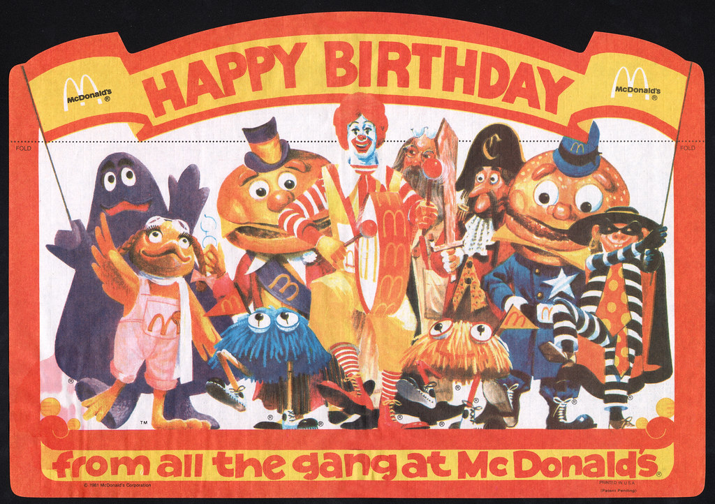 Mcdonalds Birthday Party Cake