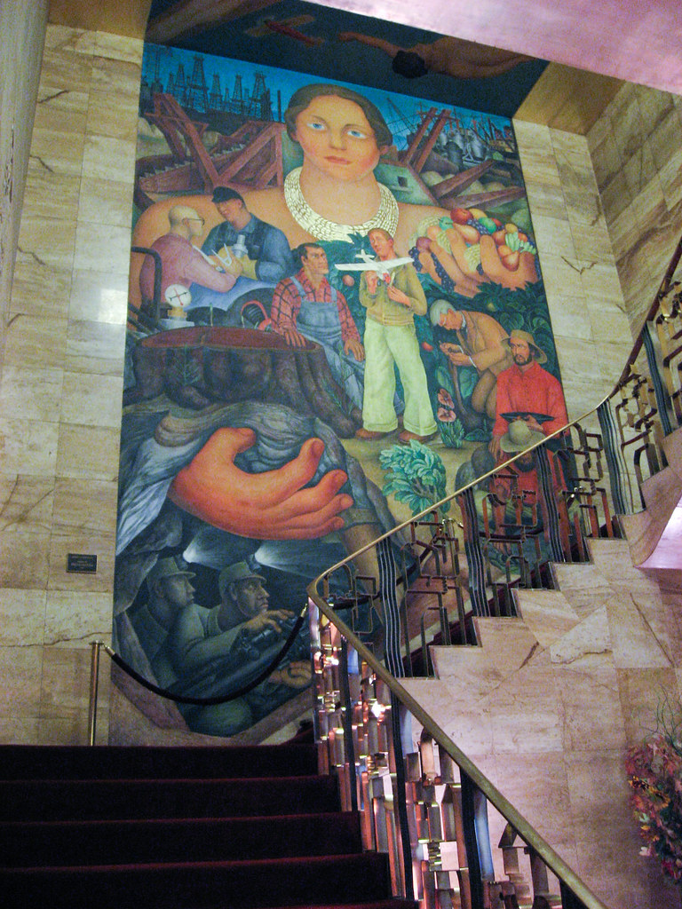 Diego rivera mural at the city club joanne wan flickr for Club joven mural