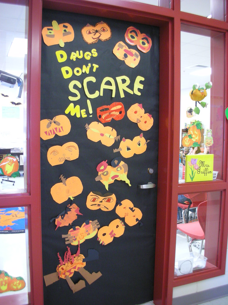 Door decorations for red ribbon week drugs dont scare me flickr vtopaller Choice Image