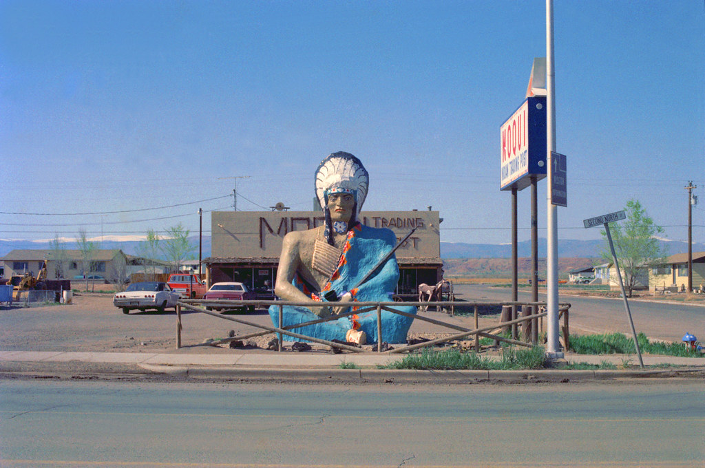 Moqui Trading Post Roosevelt Utah 1976 Nikkor S 50mm