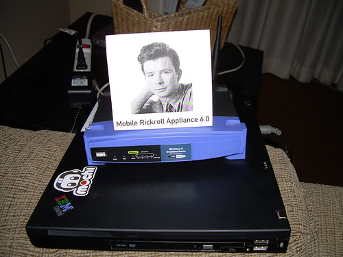 Mobile Rickroll Appliance 6.0 | by Ryan Finnie