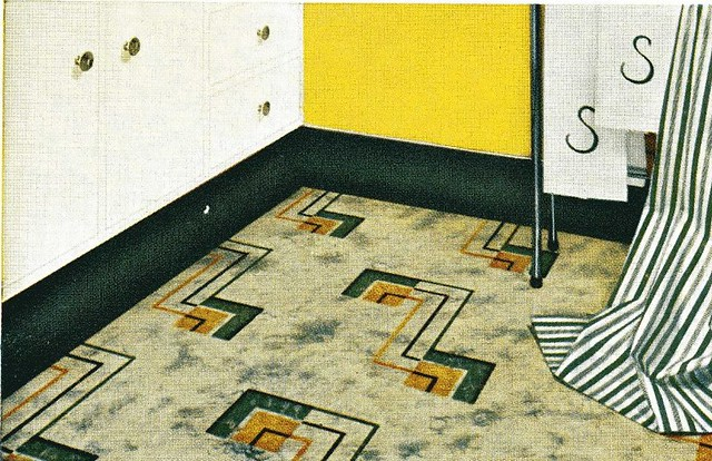Vintage Linoleum In Green And Yellow For The Kitchen Flickr