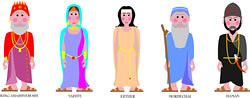 Purim Character Illustrations Client Ujia Characters
