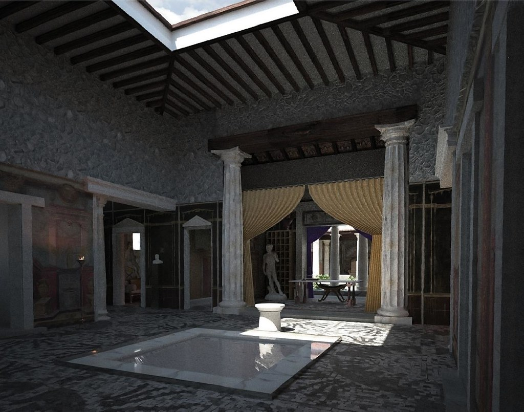 Atrium Domus Roman Ilustation Project Use View All