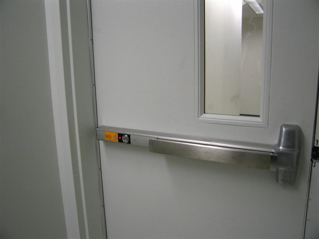 ... Active alarmed push door in the biotech center | by Sousveillance : door push - pezcame.com
