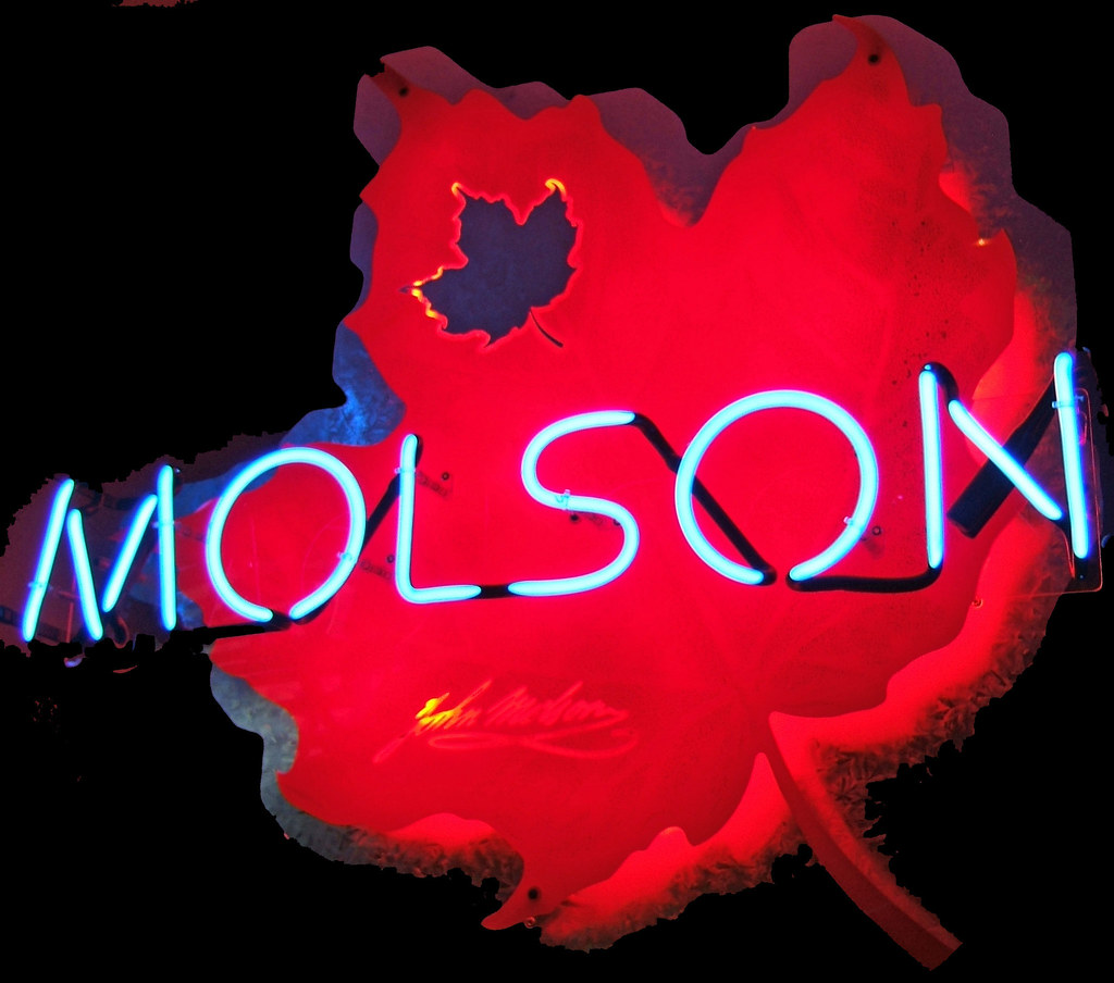 Molson On A Maple Leaf Symbolic Of The Great Country Of