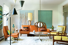 mid century living room in new york spaces magazine | by whorange