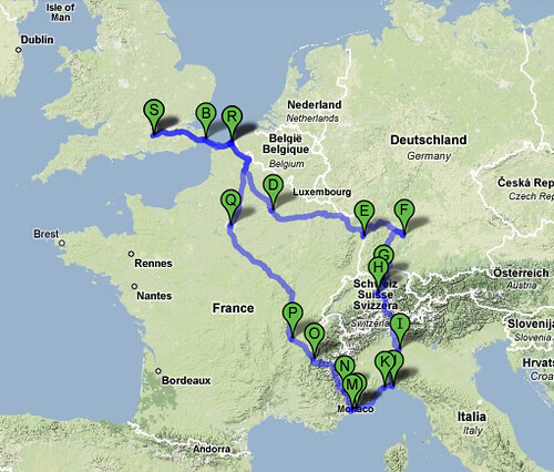 Our European road trip in Google maps  View Larger Map Tota  Flickr